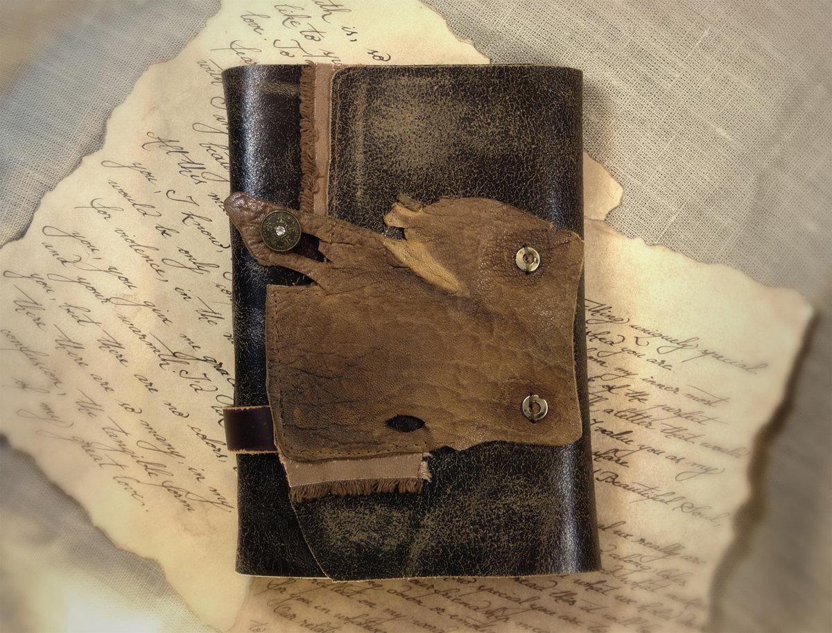 Vetus Bellatoris Leather Journal Handmade Art Journal