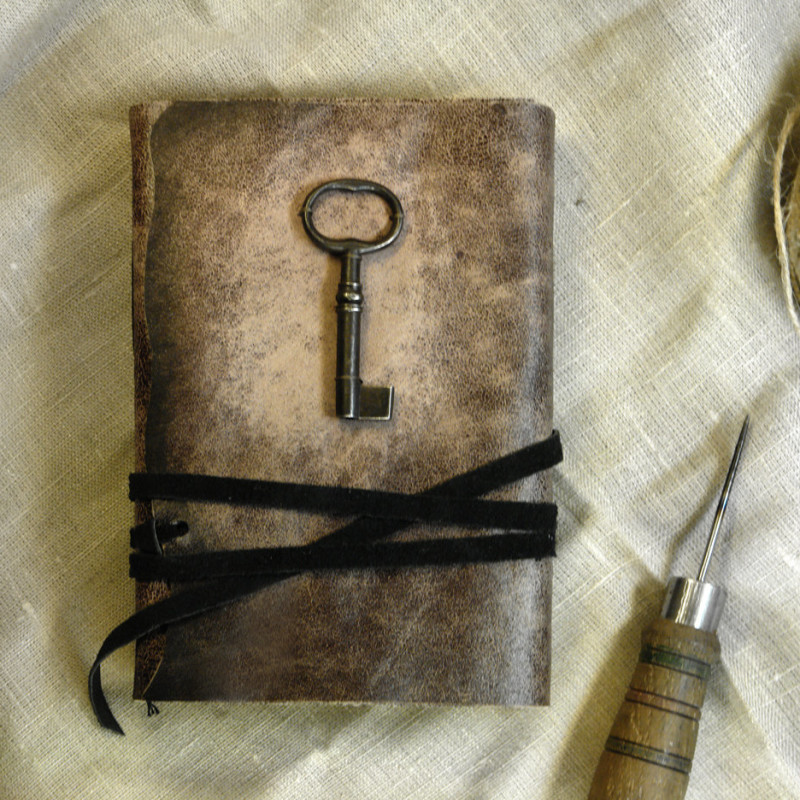 Old Leather Journal With Key Journal with Key, Rust...