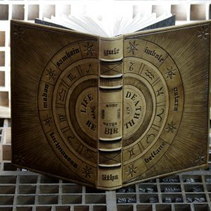 tooled leather book