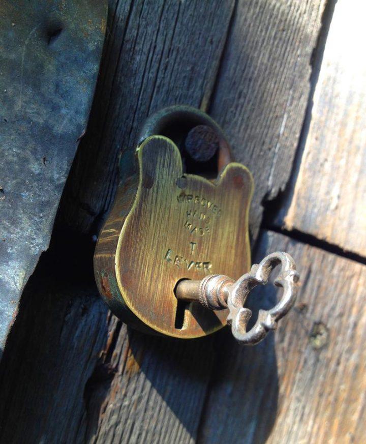vintage padlock giveaway