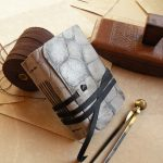 Small-leather-journal-with-vintage-style-paper-gray-leather-journal-The-brightest-day