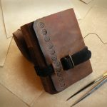 leather-journal-little-journal-with-vintage-style-paper-brown-leather-journal-Pocket-Diary
