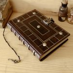 Antiqued-Leather-Journal-with-Lock-and-Key-Secret-Words