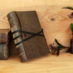 Handmade-Journal-FREE-MONOGRAMMING-Grey-Leather-with-White-or-Antiqued-Pages