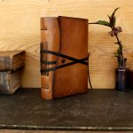 Leather-Journal-or-Notebook-Brown-Antiqued-Leather-FREE-MONOGRAMING-The-Traveler