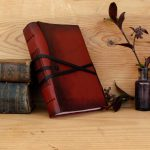 Red-Leather-Journal-Free-Monogramming-White-or-Aged-Paper-Old-Rose