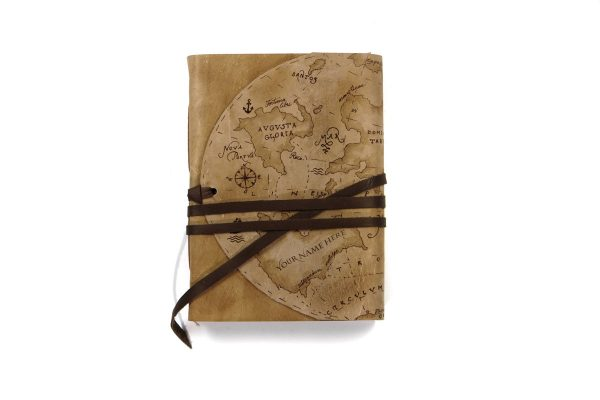 Map Leather Journal