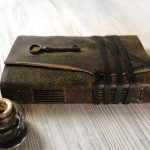 Leather Journal with Vintage Key