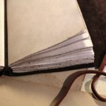 Leather Journal with Vintage Style Paper