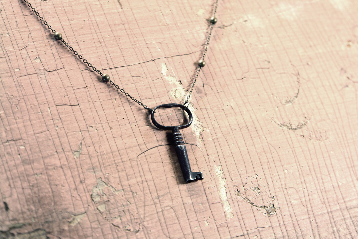 Turn a vintage key into a pendant