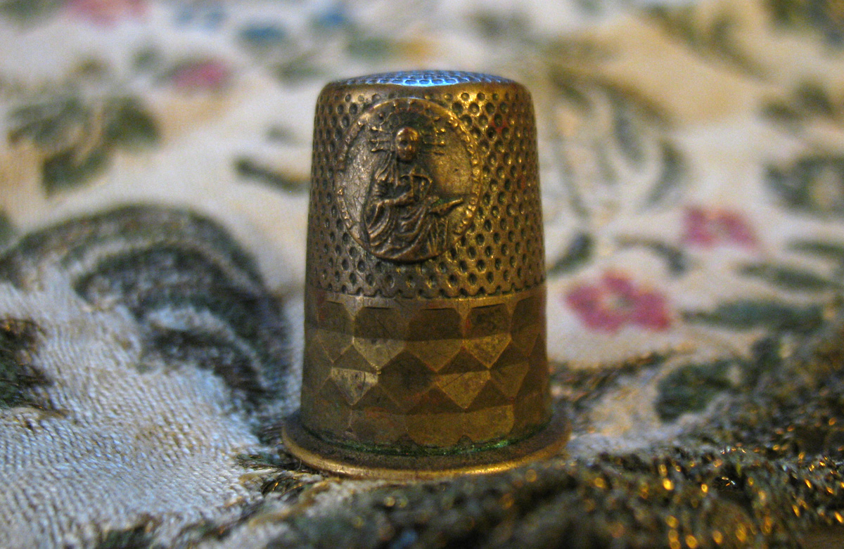 Vintage Fair Finds. An interesting thimble
