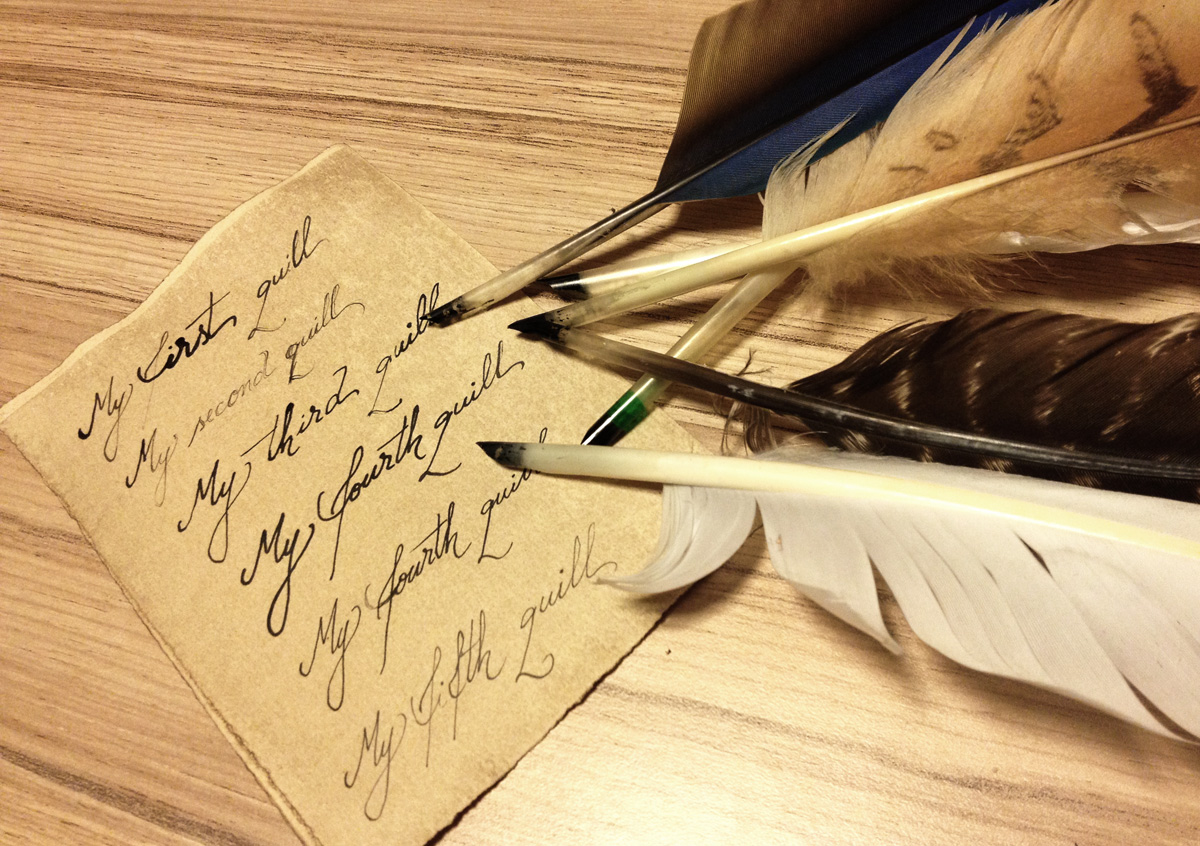 step-by-step feather quill tutorial